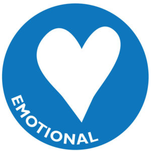 The icon for emotional wellness is a heart.