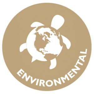 The icon for environmental wellness is a turtle with a body designed like the earth.