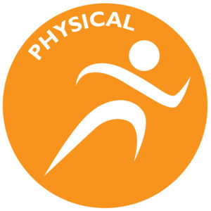 The icon for physical wellness is the silhouette of a person in motion.