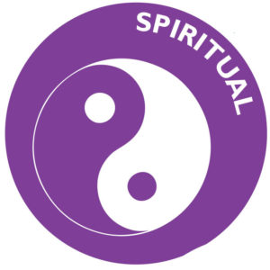 The icon for spiritual wellness is a yin-yang symbol.